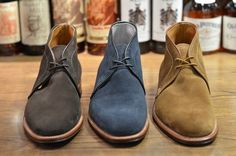 "(Chukkas)     I remember my first pair of ""desert boots"", in 1971, senior in high school. How cool they looked!  Not sure if chukkas are the same thing, but they look just like my old ones. Great comfortable shoes and that suede...!"