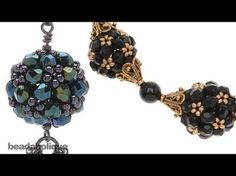 How to Make an Ornate Beaded Bead Using Right Angle Weave Double Needle Method. - In this Beadaholique video, Andrea shows us how to make a ornate beaded bead using right angle weave and the two needle method. Seed Bead Jewelry, Bead Earrings, Beaded Jewelry, Handmade Jewelry, Beaded Bracelets, Jewellery, Beaded Necklace, Necklaces, Seed Bead Tutorials