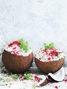 lychee and coconut granita