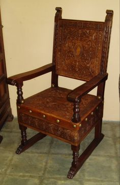 1000 Images About Hand Tooled Leather Furniture On Pinterest Armchairs Chairs And Leather