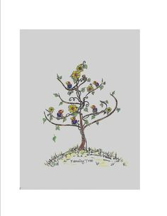 University of Kansas Jayhawk Family Tree Greeting Card
