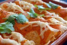 Black Bean, Sweet Potato, and Caramelized Onion Enchiladas - foodista.com