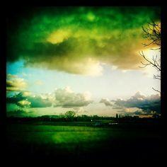 Sunset in Handzame by Bernard Isacker