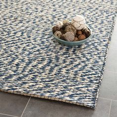 Natural Fiber Area Rug in Blue and Ivory design by Safavieh