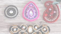 Pearl Embroidery, Bead Embroidery Patterns, Belly Dance Costumes, Diy Costumes, Diy Crochet Projects, Sewing Projects, Beaded Appliques, Diy Hair Accessories, Sewing Basics