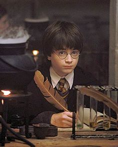 Harry's 1st ever potions class. He was adorable as a little boy.
