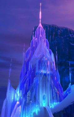 Elsa's Ice Palace was created by Elsa the Snow Queen in the Disney animated film Frozen. The Ice Castle was created by Elsa as practice for her powers on the North Mountain a day's walk away from Arendelle. Frozen Disney, Frozen Movie, Elsa Frozen, Disney Magic, Disney Art, Disney Movies, Frozen 2013, Arendelle Frozen, Frozen Art