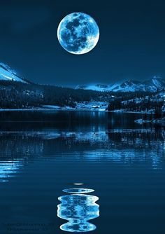 A beautiful night with a full moon
