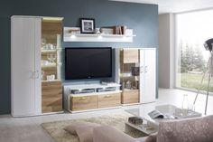 Obývačka CITY / Living room CITY (Biela arctic / Dub riviera mountin rustic / White arctic / Oak riviera rustic) Rustic White, Living Room, City Living, Tv, House, Furniture, News, Arctic, Design