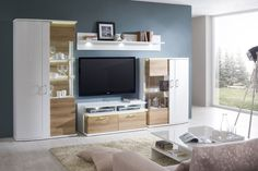 Obývačka CITY / Living room CITY (Biela arctic / Dub riviera mountin rustic / White arctic / Oak riviera rustic)