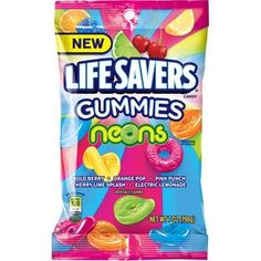 Life Saver Gummies, Electric Lemonade, Lifesaver Candy, American Chocolate, Sugar Free Candy, Pink Punch, Chocolate Snacks, Oreo Brownies, Sour Patch Kids