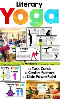 Yoga for the classroom. This is a great way to add meaningful movement in your secondary classroom! @Bsbooklove