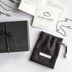 Package for OLGA KABIE porcelain jewelry #olgakabie