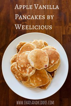 This tasty recipe for apple vanilla pancakes by Weelicious is a quick and easy preparation that's become a huge family favorite.
