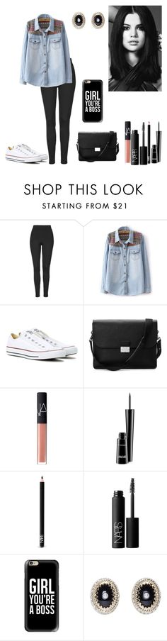 """Sem título #446"" by karen-biarmatos on Polyvore featuring moda, Topshop, Converse, Aspinal of London, NARS Cosmetics, MAC Cosmetics, Casetify e Givenchy"