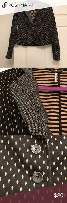 Free People dotted blazer Black and Tan dotted blazer by Free People. Won't once. Free People Jackets & Coats Blazers
