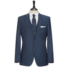 SANTINELLI Teal Three Piece Tailored Fit Suit £159.00