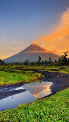 mayon, park, mayon volcano, volcano, mountains