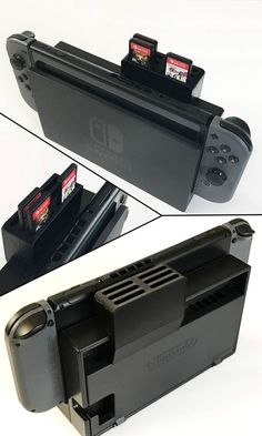 Store your Nintendo Switch games for quick and easy access with this printed cartridge holder! Holds up to 6 game cartridges and comes in multiple color options. Nintendo 3ds, Nintendo Console, Consoles, Playstation, Geek Mode, Buy Nintendo Switch, Nintendo Switch Accessories, Xbox 360 Games, Games