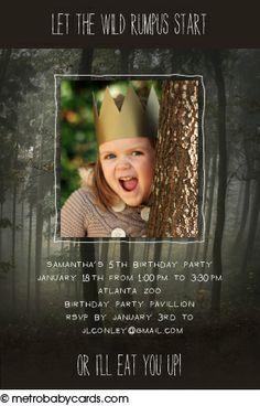 Photo Birthday Invitations :: Wild Things Design