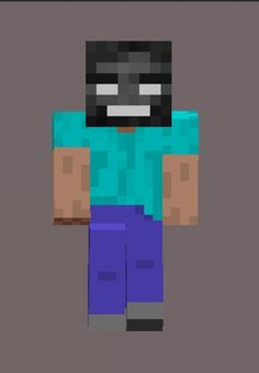 Minecraft herobrine with a wither Skeleton head