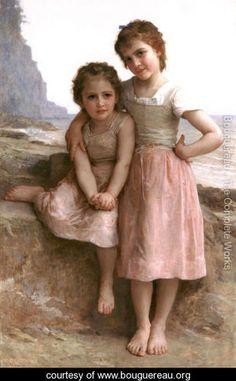 Sur la Greve (On the Rocky Beach) - William-Adolphe Bouguereau