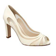 8bca34f02b Linda peep toe em cetim Velvet com detalhes em tela e salto grosso Sapatos  Salto Grosso