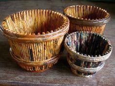 Artesanato em Jornal - Papel e Lixo | Artesanato - Cultura Mix