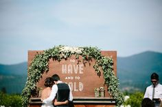 'to have and to hold' handmade ceremony backdrop