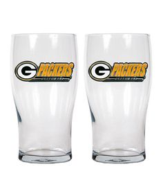 Look at this #zulilyfind! Green Bay Packers Pub Glass - Set of Two by Great American Products #zulilyfinds