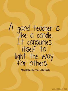 Good teacher quote via www.Venspired.com and www.Facebook.com/Venspired
