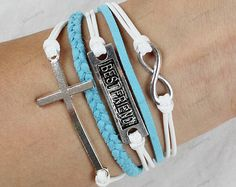 personalized braceletscross braceletsfriendship by lifesunshine, $6.99