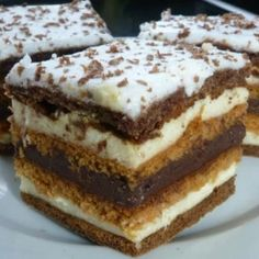 Hungarian Desserts, Hungarian Cake, Cookie Recipes, Dessert Recipes, Christmas Drinks, Food Cakes, Healthy Snacks, Food And Drink, Sweets