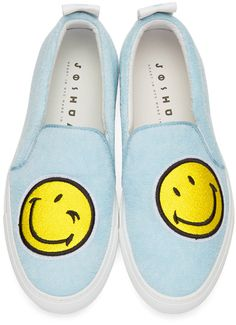 Joshua Sanders - Blue Smile Slip-On Sneakers