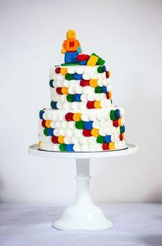 Boys' Modern Lego Themed Birthday Party Cake Dessert Ideas