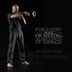 Q: Why? A: Because the swing is the antidote to the sitting posture. Q: How does it correct sitting posture? A: It strengthens the glutes and opens the hip flexors. (When you are seated the glutes are turned off and the hip flexors are shortened.) It also https://www.kettlebellmaniac.com/kettlebell-exercises/