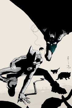 Batman and Catwoman by Jock. Loved his work on The Losers. Catwoman Y Batman, Batman 1, Catwoman Cosplay, Batgirl, Superman, Dc Comics, Batman Comics, Bob Kane, Comic Books Art