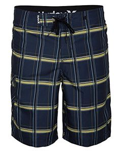 Hurley Mens Puerto Rico Supersuede Boardshort Obsidian Blue 32 *** Click the swimwear to find out more