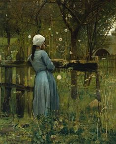 "birdsong217: ""William Stott-of-Oldham (English, 1857-1900) Girl in a Meadow, 1880. Oil on canvas. """