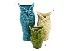 Belle Home Décor - Ceramic Owl Vase - Terquoise, $39.95 (http://www.bellehomedecor.com.au/ceramic-owl-vase-terquoise/)