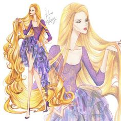 Rapunzel Disney chiffon collection by Guillermo meraz Rapunzel Flynn, Disney Rapunzel, Princesa Disney, Disney Love, Disney Princess Fashion, Disney Princess Aurora, Princess Rapunzel, Disney Style, Princess Movies