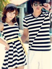 Stripes!!! T-shirt and Dress. Oh, Korean fashion. You're so adorably blatant.