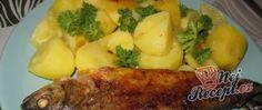 Recept Pstruh na másle s bramborami Steak, Salads, Cooking Recipes, Chicken, Fit, Author, Pisces, Shape, Chef Recipes