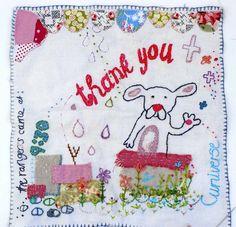 thank you journal stitch by grrl+dog