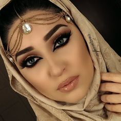 @nazanasghar wearing @shophudabeauty mink lashes in Naomi and Sophia lashes stacked together