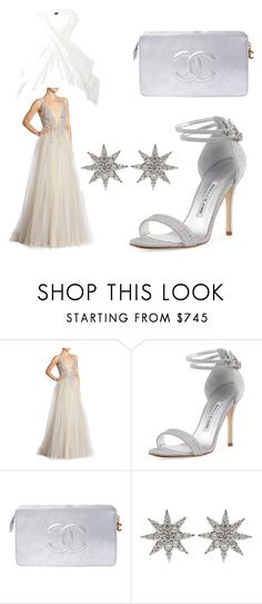 """""""If I Could Pull it Off"""" by michele-cathers ❤ liked on Polyvore featuring Berta, Manolo Blahnik, Chanel and Bee Goddess"""