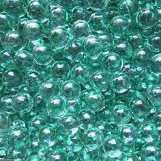 Unique  Custom 916 Inch Approx 2 Pound Set of Small Round Clear Marbles Made of Glass for Filling Vases Games  Decor w Teal Faux Water Aqua Drop Crystal Bubble Design Light Green Color >>> Read more at the image link. (This is an affiliate link) #VaseFillers