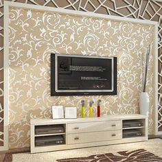 Silver grey 3D acanthus leaf embossed Modern Wallpaper mural Wall Decor bedroom