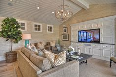 Built In around tv  1512 Dolphin Terrace - traditional - living room - los angeles - Spinnaker Development