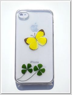 iPhone 4/4S case Resin with Real Flowers and by Annysworkshop, $20.00